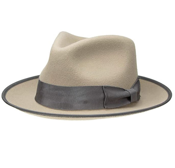 SOLEEZ - Unisex Curved Brim Fedora Hat with Grosgrain Bow Band