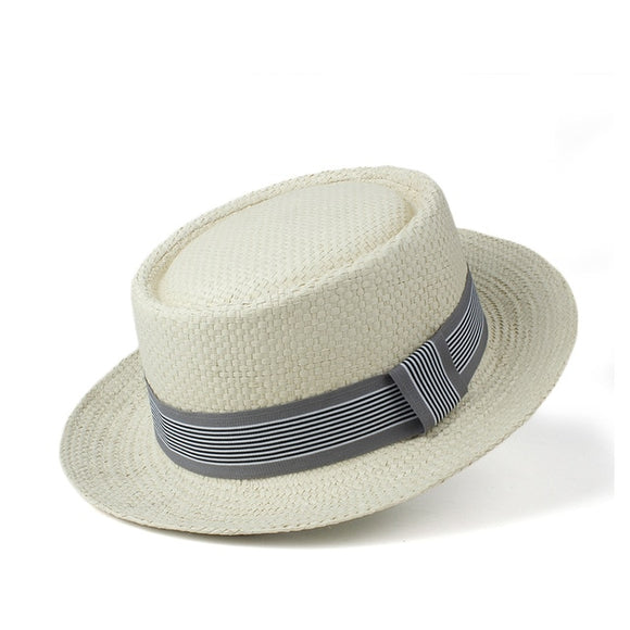 CEJAE - Unisex Panama Pork Pie Hat With Ribbon Band (2 Colors)