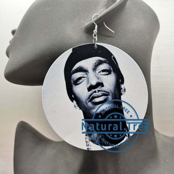 Nipsey Hussle Wooden Earrings