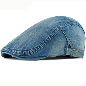 Denim Ivy Flat Hat Caps (4 Colors)