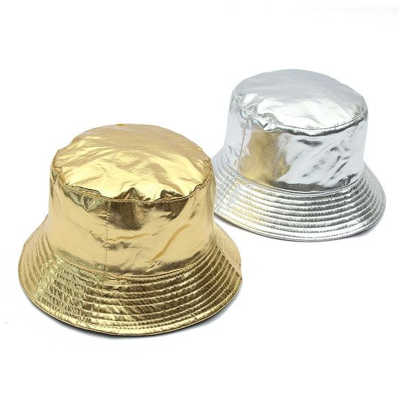 Metallic Bucket Hat (Gold or Silver)