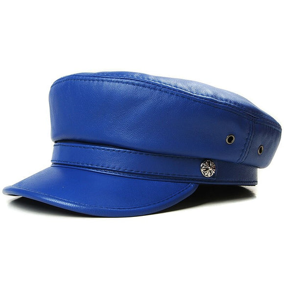 Leather Gatsby Baker Boy Caps (4 Colors)