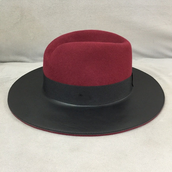 KYRON- Wool Two Tone Brim Fedora Hat