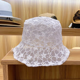 Lace Flower Floppy Bucket Hat (3 Colors)