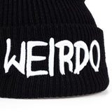 WEIRDO Embroidered Knitted Beanie Hat