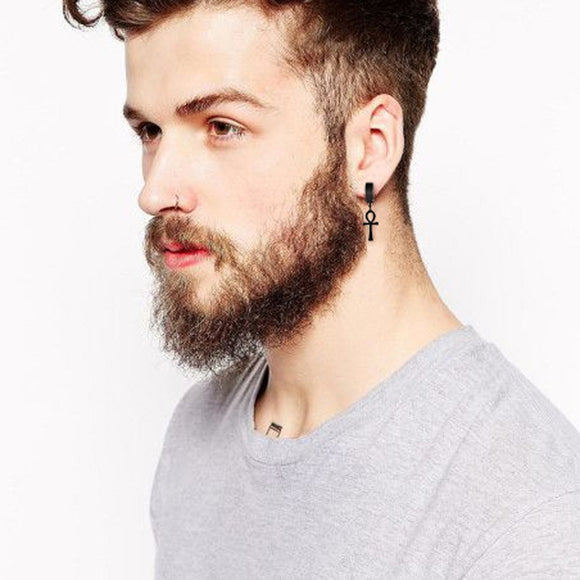 Eternal Cross Earrings & Ear Clips for Men