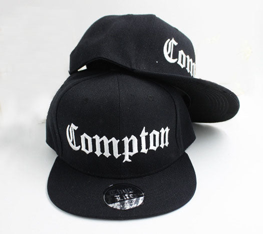 COMPTON Fitted Snapback Hat With Brim Sticker
