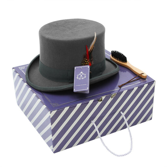 ATSBURG - Gray Retro British Top Hat