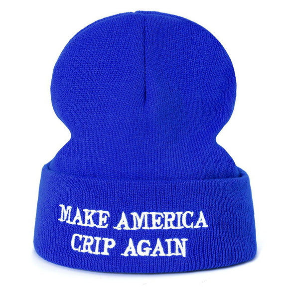 MAKE AMERICA CRIP AGAIN Knitted Beanie Hats (3 Colors)