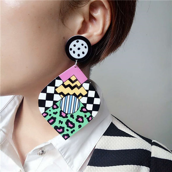 Colorful Abstract Earrings