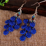 Bohemian Peacock Drop Earrings (20 FUN Colors)