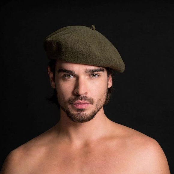 Men's Wool Artist Beret Hat (11 Colors)