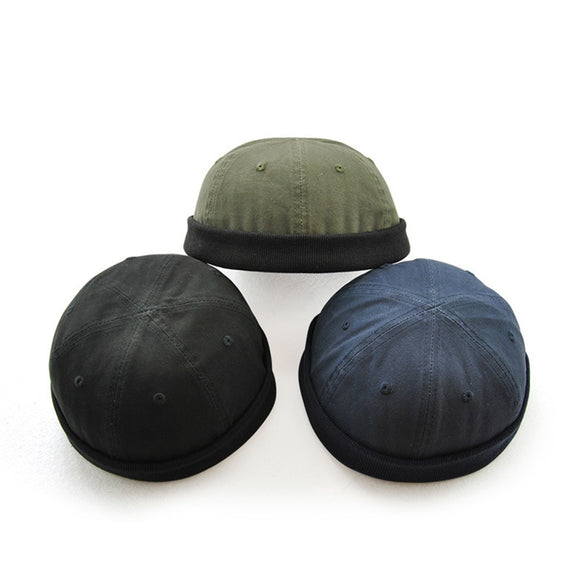 Brimless Skull Hat Caps (3 Colors)