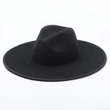 SLAYED - Unisex Black / Red Bottom Wool Wide Brim Fedora