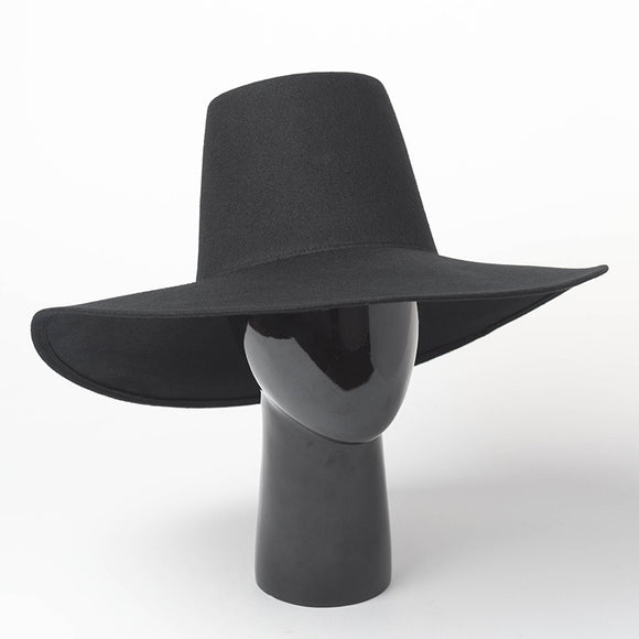 DUKO - 100% Wool Unisex High Top Fashion Fedora