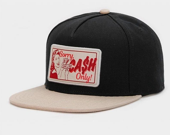 SORRY, Cash Only Snapback Cap Hat