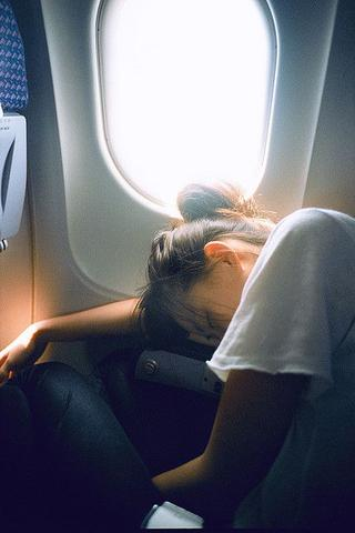 Sleeping on flight