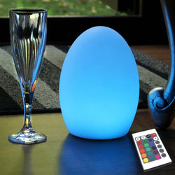 Multicolor LED Bedside Lamp, Rechargeable RGB Night Light, 19cm