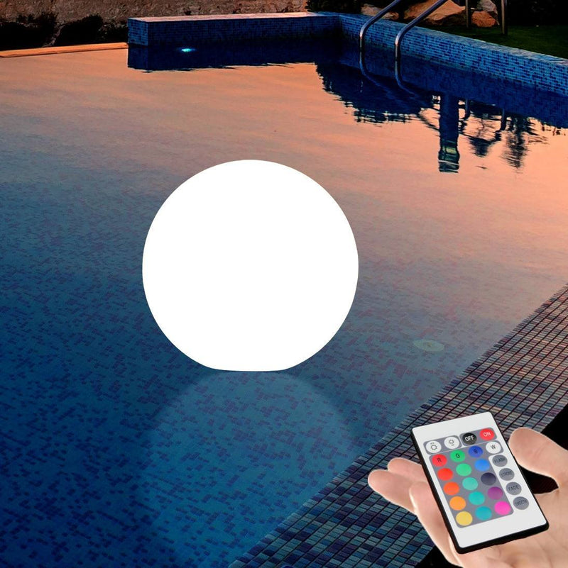 Floating LED Sphere Light for Pool Pond Hot Tub, LED Garden Lamp, 20cm