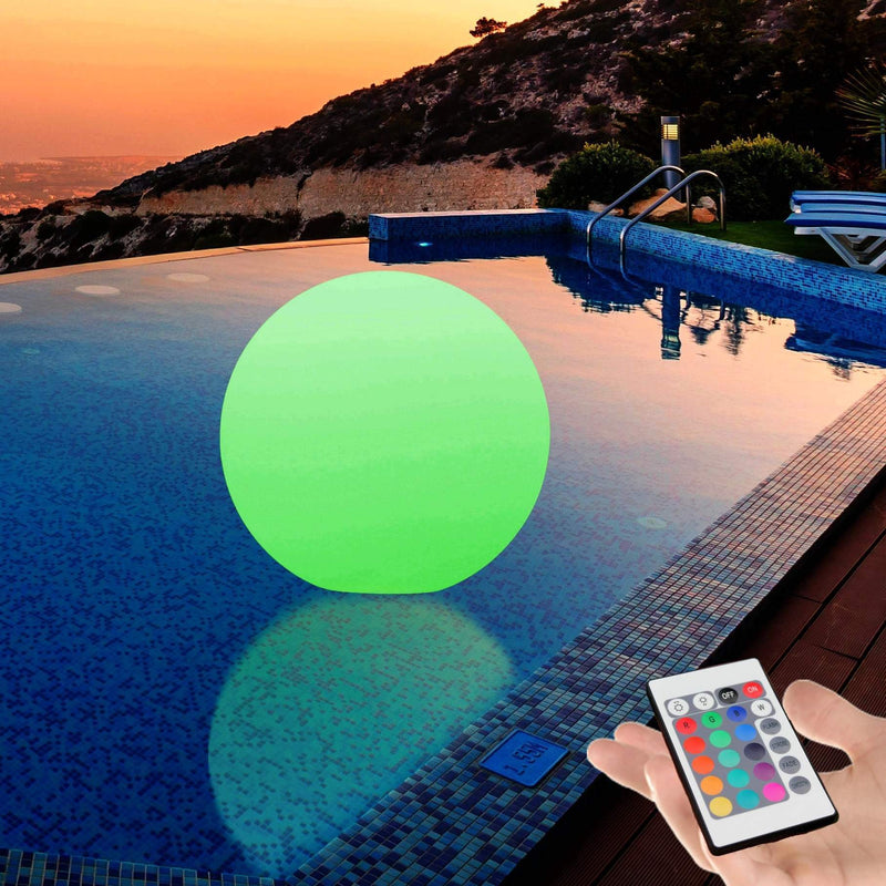 Large Floating LED Pond Pool Light, 60 cm Ball Sphere Orb Lamp, Outdoor Waterproof Garden Lighting