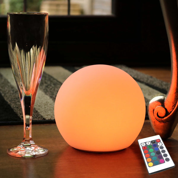 Bedside Night Lamp, Illuminated Multicolor LED Sphere, Wireless, 15cm