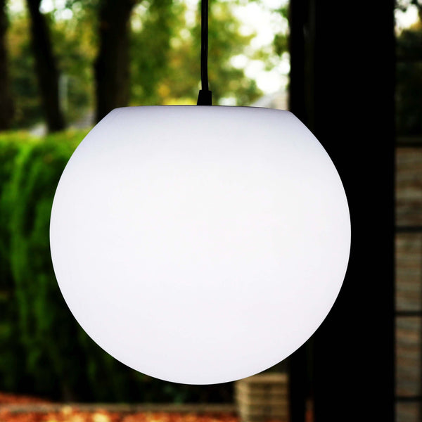 Pendant Ceiling Lamp, Ball Hanging Light 30cm with White E27 LED Bulb