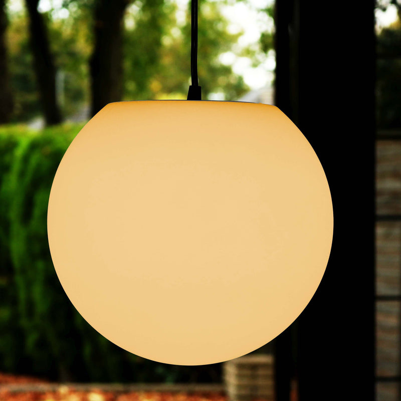 Modern Hanging Pendant Lamp, 30cm Sphere with Warm White E27 Bulb