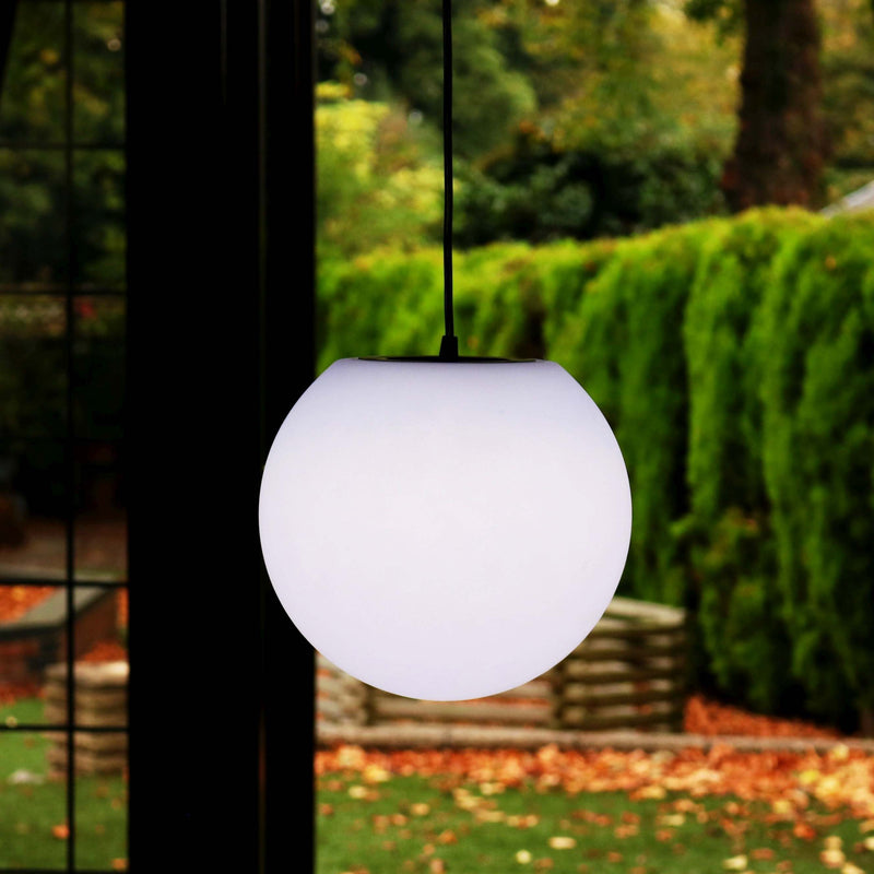 Round Hanging Lamp, Modern Pendant Ceiling Light 25cm, LED E27 White