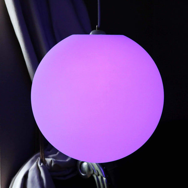 Multicolor LED Pendant Ceiling Light, 50cm Sphere Ball Hanging Lamp with RGB Remote