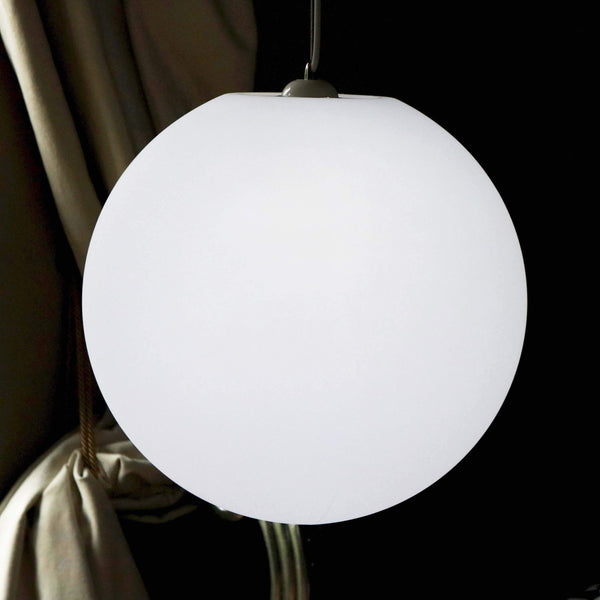 LED E27 Hanging Pendant Light, 50cm Ball Sphere Ceiling Lamp, Large Orb Globe Lighting