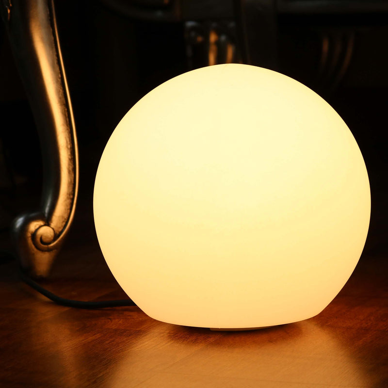 Modern Dimmable LED Bedside Table Lamp, Warm White E27 Bulb Installed