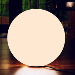 Large Circular E27 Floor Lamp, 60cm Modern LED Ball Sphere Orb Light for Living Room, Warm White
