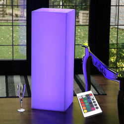 Rechargeable LED Lounge Floor Lamp with Remote, Multicolor, 80cm