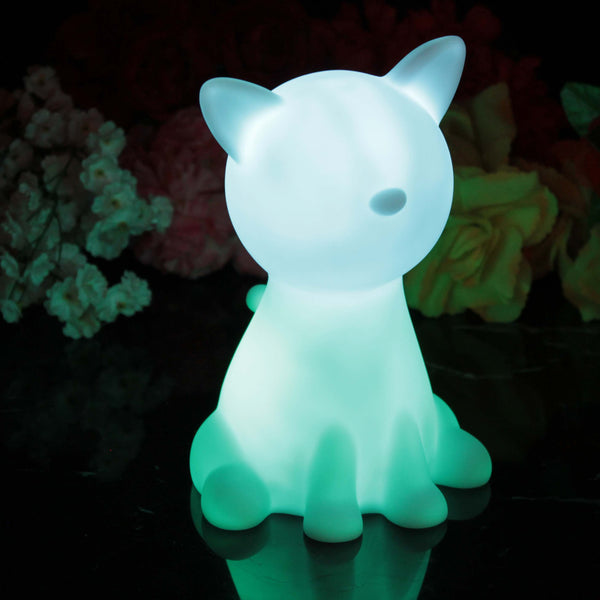 Bedside Children's Night Lamp, Battery Powered LED Sensory Light, Cat