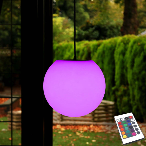 LED Hanging Ceiling Lamp, Color Changing Ambient Mood Light, 20cm