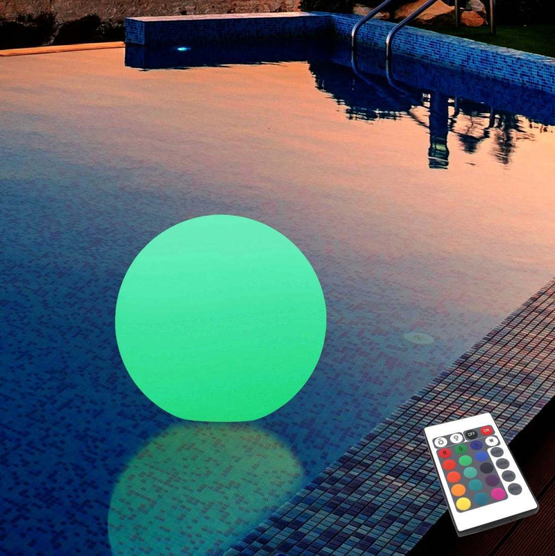 Round Floating LED Outdoor Lamp 25cm for Pool, Pond, Jacuzzi, Garden