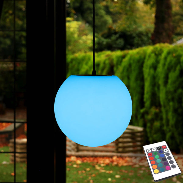 Outdoor LED Hanging Lamp for Garden, Rechargeable, Multicolor, 20cm