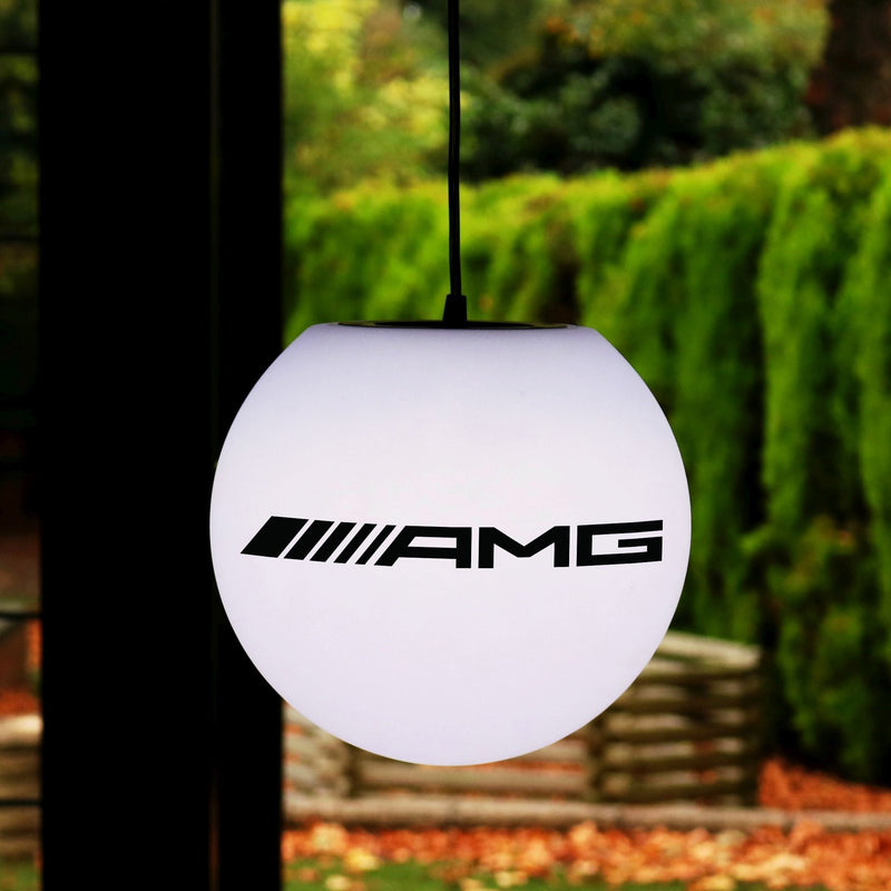 Custom Round LED Pendant Light Box, Promotional Display Sign, Branded E27 Hanging Lamp
