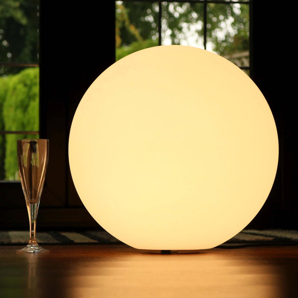 Dimmable Decorative LED Ball Floor Lamp with Warm White E27 Bulb, 40cm