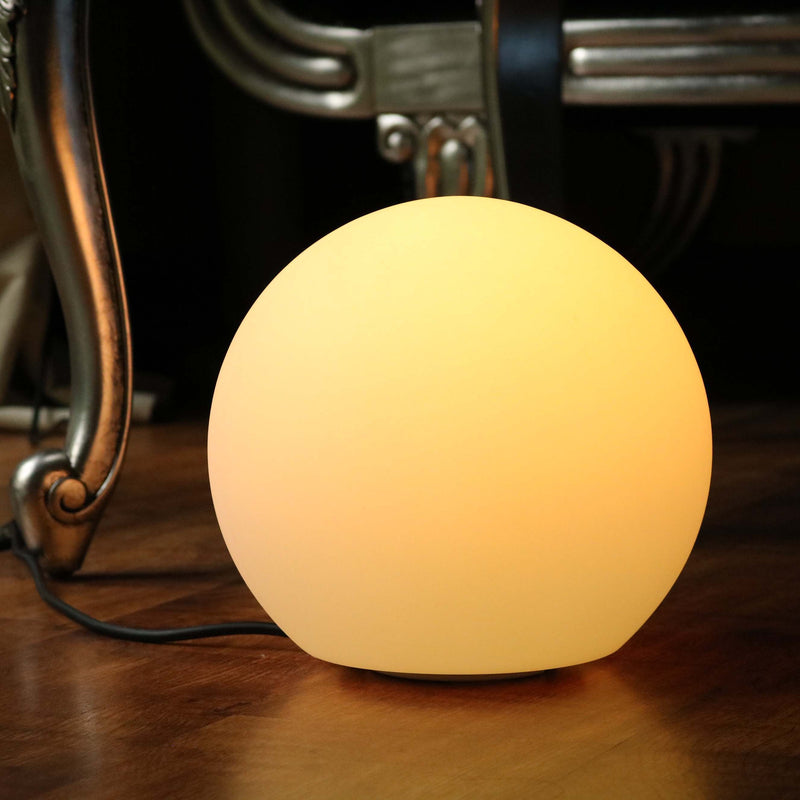 Bedside Lamp, Mains Powered, 25cm Multicolor LED Ball with Remote