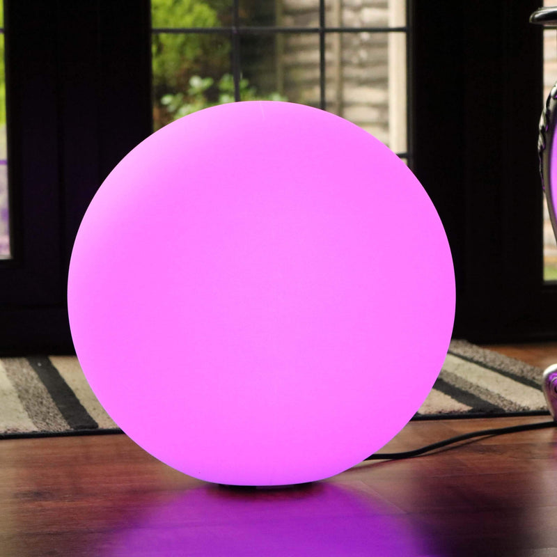 Large Multicolor Sphere Floor Lamp with Remote, 60cm Color Changing LED Globe Ball Light