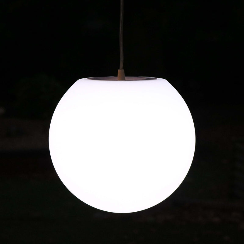 Hanging Lamp, Modern Pendant Light, 15cm Ball, White E27 LED