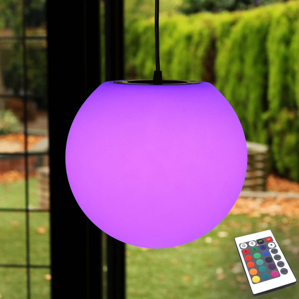 Hanging Lamp, Waterproof Rechargeable Outdoor Light with Remote, 30cm