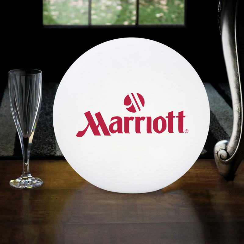 Illuminated LED Ball Advertising Lightbox, Personalised Branded E27 Table Lamp with Logo
