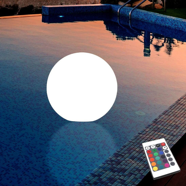 Floating Pool Lamp, Outdoor LED Garden Globe Sphere, 30cm, IP67