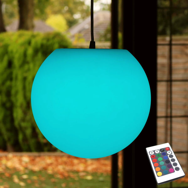 LED Hanging Lamp, 30cm Sphere, Multicolor RGB Ceiling Light