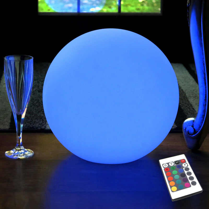 Cordless Luminous LED Sphere, 30cm RGB Multicolor Table Lamp
