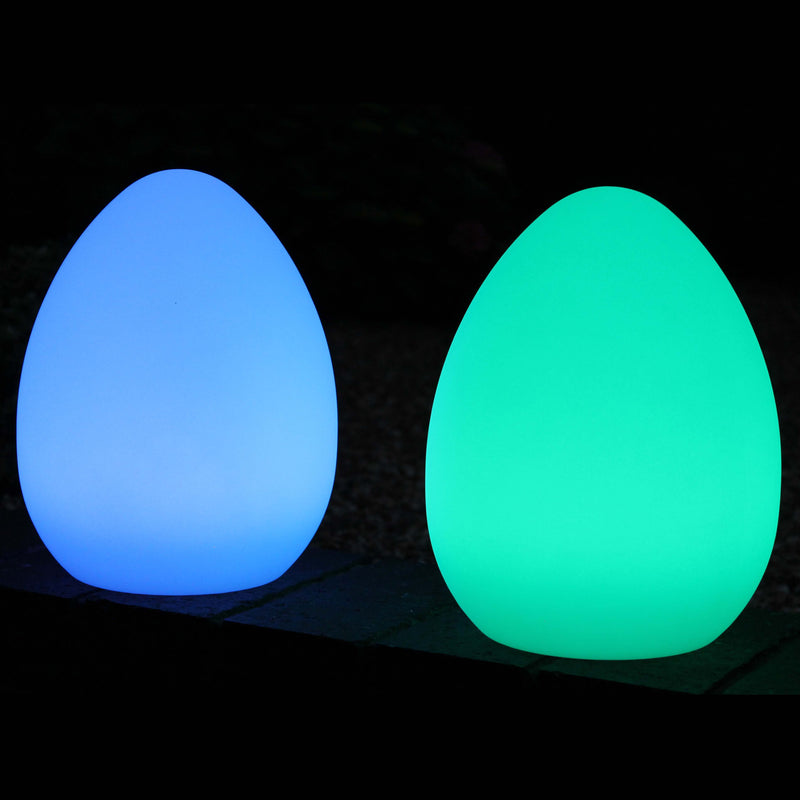 Decorative Cordless RGB Table Lamp, Outdoor Garden Light, 27cm