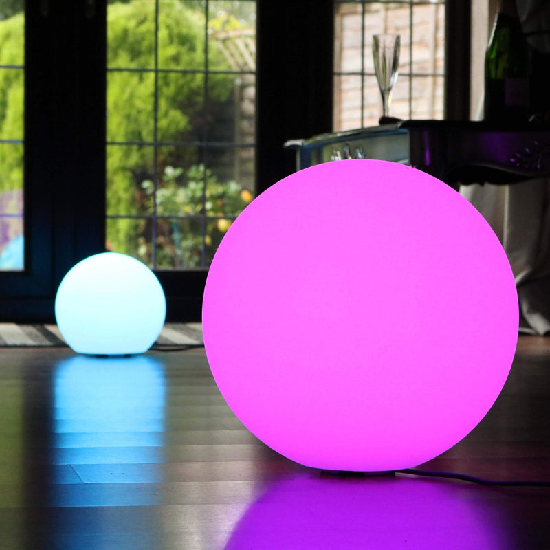 Multi Color LED Ball Floor Lamp with Remote Control, 50cm RGB Sphere Orb Light