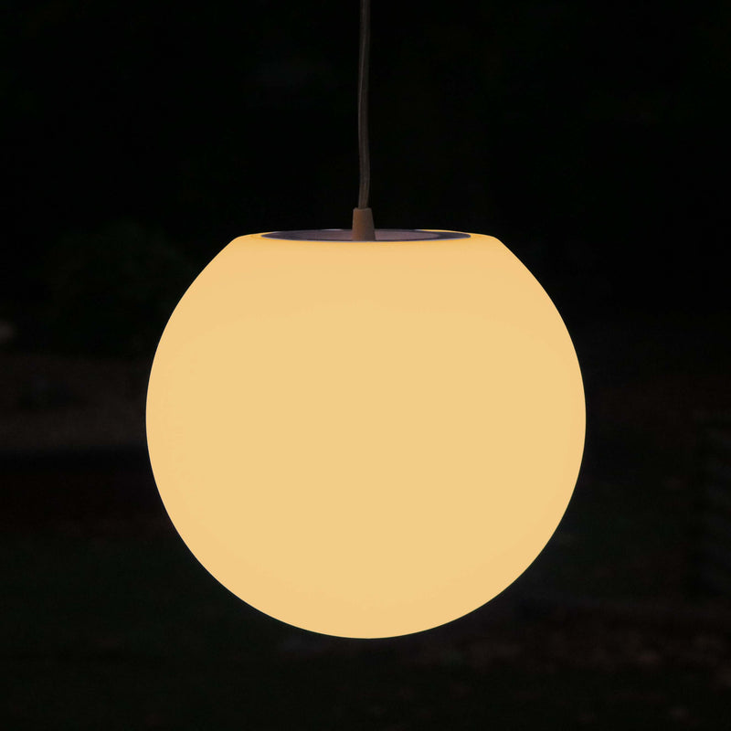 Hanging Lamp Bedroom, Ball Pendant Ceiling Light 25cm, Warm White LED